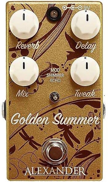 Alexander Golden Summer Ambient Reverberator Reverb Pedal