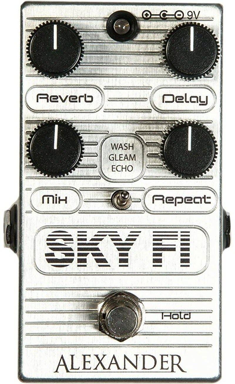 Alexander Sky Fi Reverb Delay Reverb Pedal (Chrome)