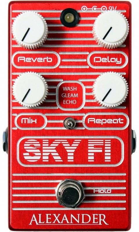 Alexander Sky Fi Reverb Delay Reverb Pedal (Red)