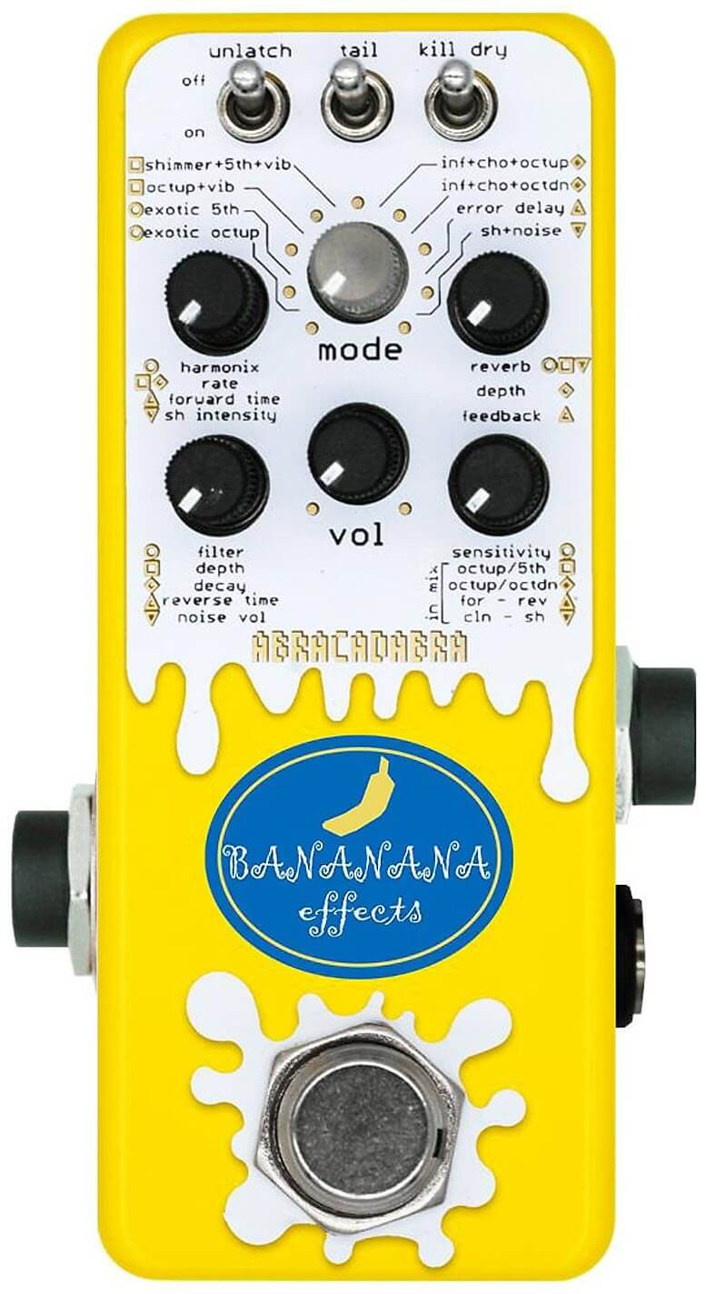 Bananana Effects Abracadabra Reverb Pedal (Yellow)