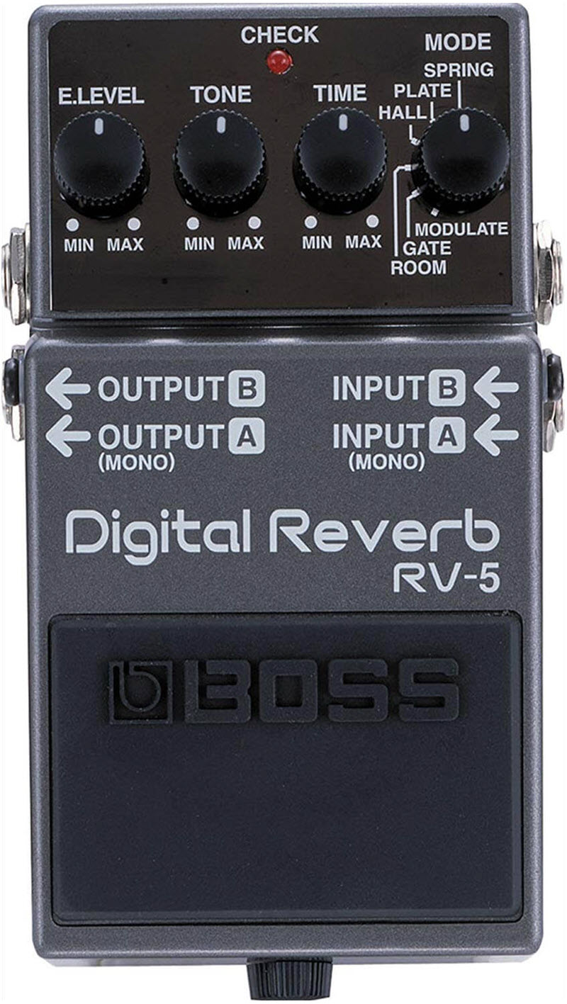 Boss RV-5 Digital Reverb Pedal (Gray)