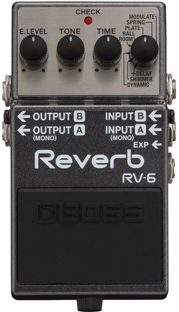 Boss RV-6 Digital Reverb Pedal (Gray)