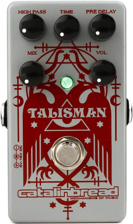 Catalinbread Talisman Plate Reverb Pedal (Gray/Red)