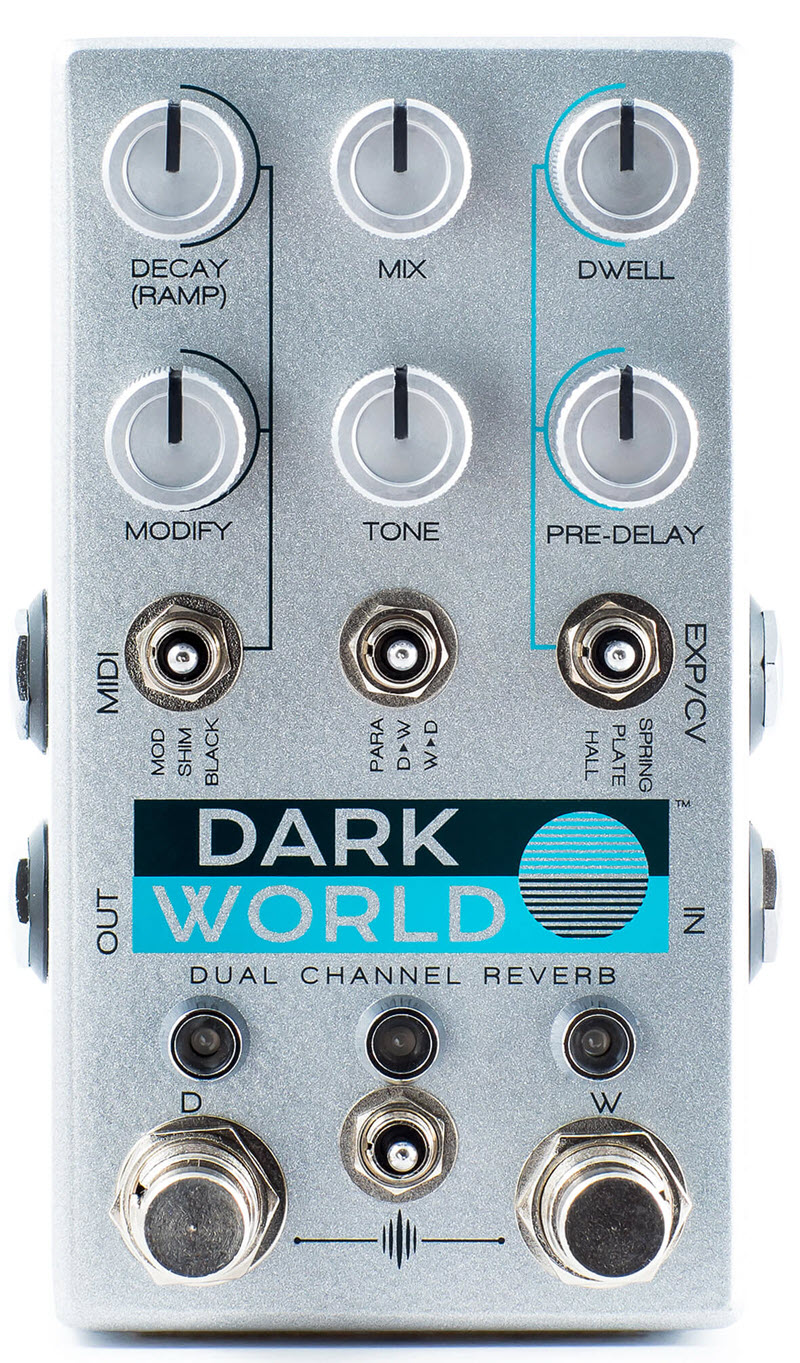 Chase Bliss Dark World Dual Channel Reverb Pedal (Silver)