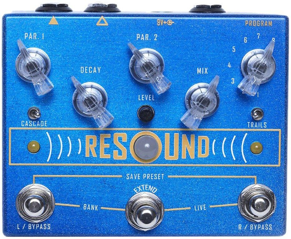 Cusack Resound Digital Reverb Pedal (Blue)