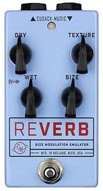 Cusack Reverb SME V2 Size Modulation Emulator Reverb Pedal (Blue)