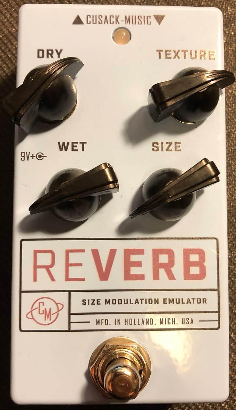 Cusack Reverb SME V2 Size Modulation Emulator Reverb Pedal (White)