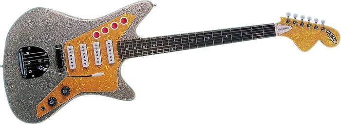 DiPinto Galaxie 4 Guitar in Silver & Gold