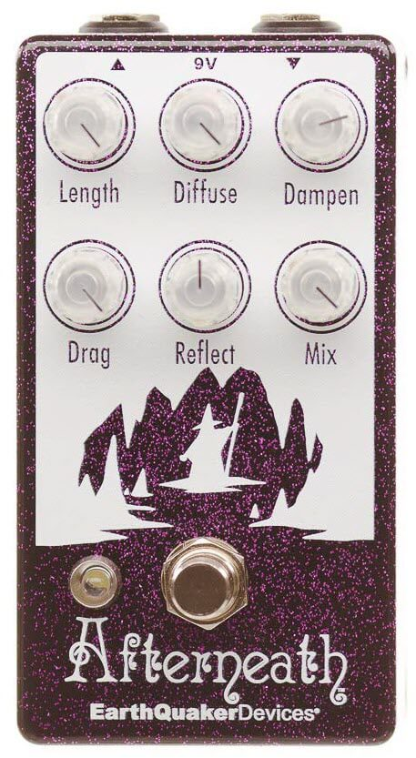 Earthquaker Afterneath V2 Reverb Pedal (Purple Sparkle)