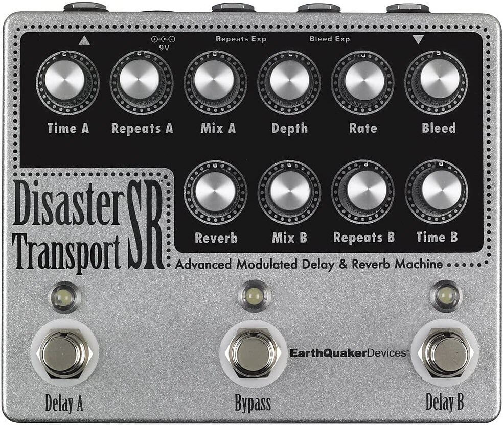 Earthquaker Disaster Transport Sr Modulated Delay Reverb Machine Reverb Pedal (Silver/Black)