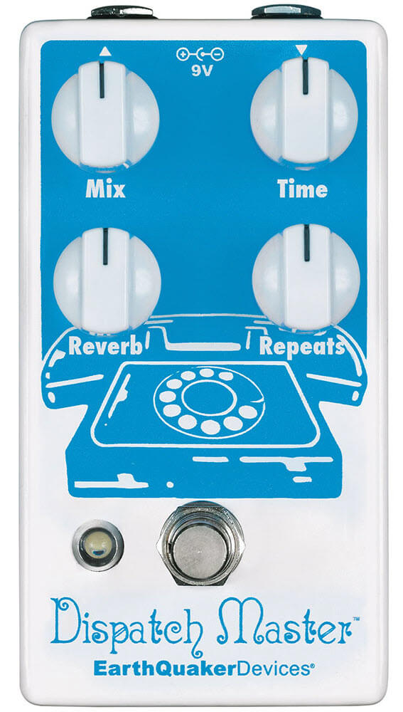 Earthquaker Dispatch Master Digital Delay Reverb Pedal (White/Blue)