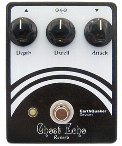 Earthquaker Ghost Echo V1 Vintage Voiced Reverb Pedal (Black/White)