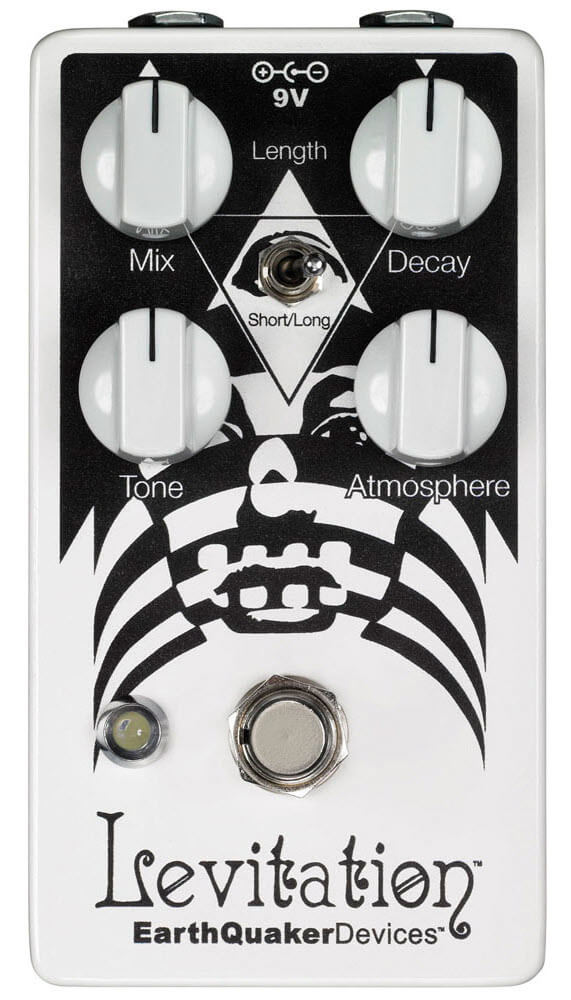 Earthquaker Levitation Reverberation Machine Reverb Pedal (Black/White)