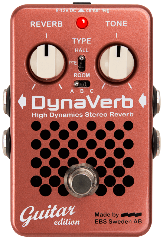 EBS DynaVerb High Dynamics Stereo Reverb Pedal (Guitar Edition)