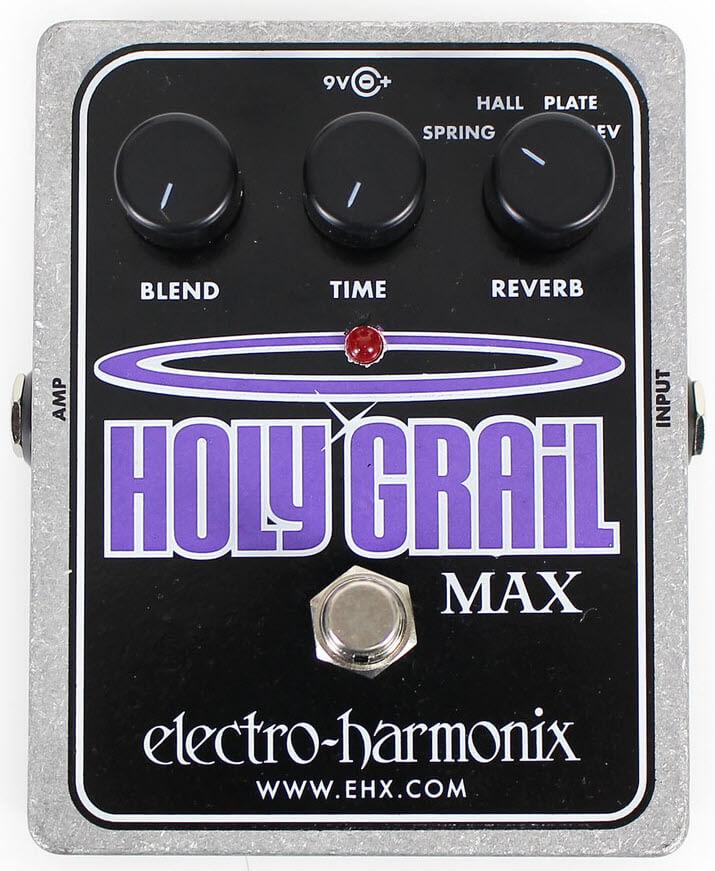 Electro-Harmonix Holy Grail Max Reverb Pedal (Silver/Black)