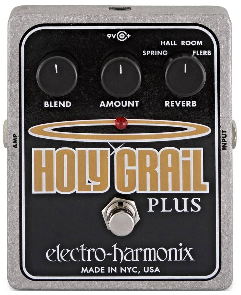 Electro-Harmonix Holy Grail Plus Reverb Pedal (Silver/Black)