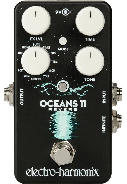 Electro-Harmonix Oceans 11 Reverb Pedal (Black)