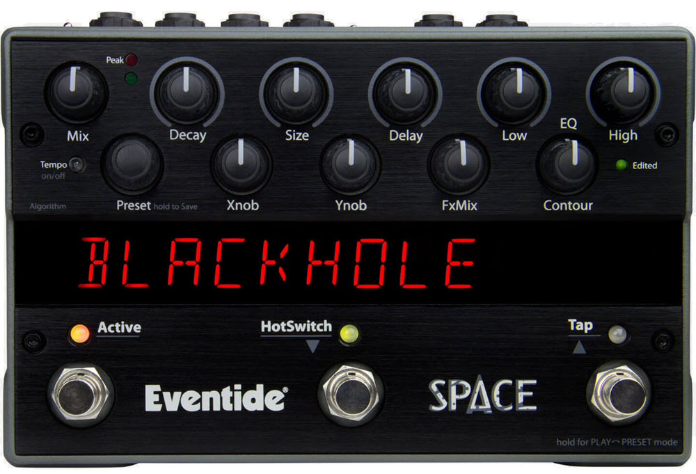 Eventide Space Reverb Pedal (Black)
