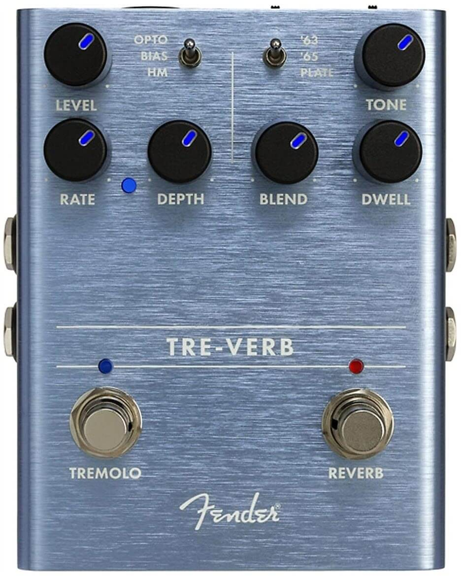 Fender Tre-Verb Digital Reverb Tremolo Reverb Pedal
