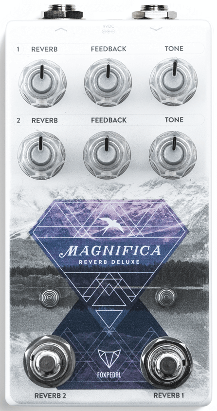 Foxpedal Magnifica Deluxe Reverb Pedal (White)