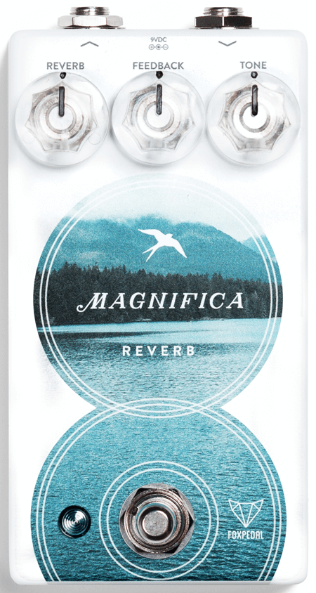 Foxpedal Magnifica V2 Reverb Pedal (White)