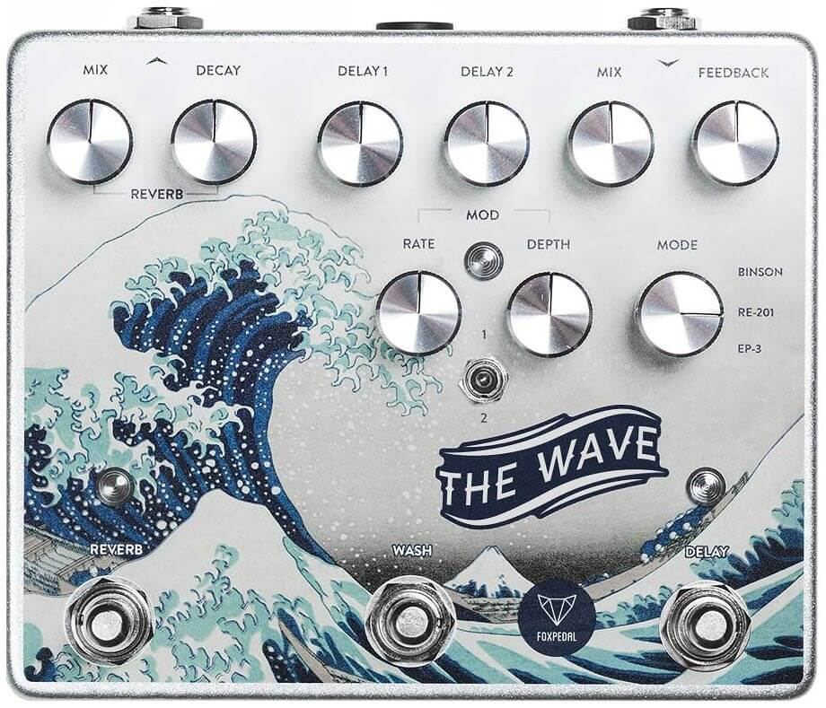 Foxpedal Wave Dual Delay Modulation Reverb Pedal (Silver)