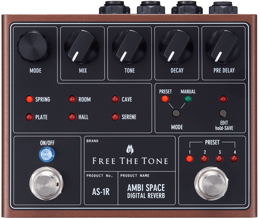 Free The Tone Ambi Space AS-1R Digital Reverb Pedal