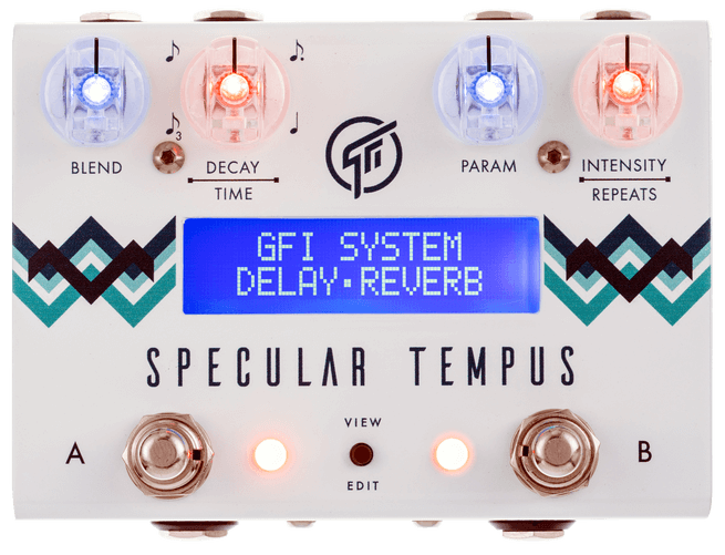 GFI System Specular Tempus Reverb Delay Pedal (White)
