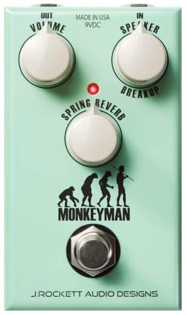 J.Rockett Monkeyman Spring Reverb Pedal (Green)
