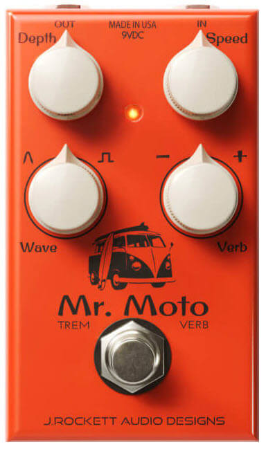 J.Rockett Mr. Moto Tremolo Reverb Pedal (Orange)