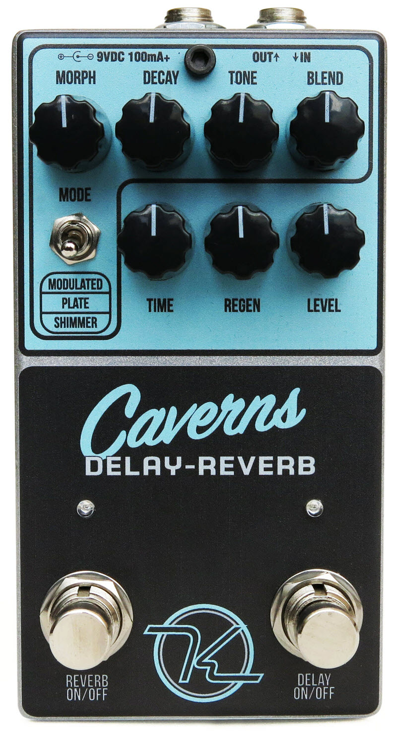Keeley Caverns Delay Reverb V1 Reverb Pedal (Black/Blue)