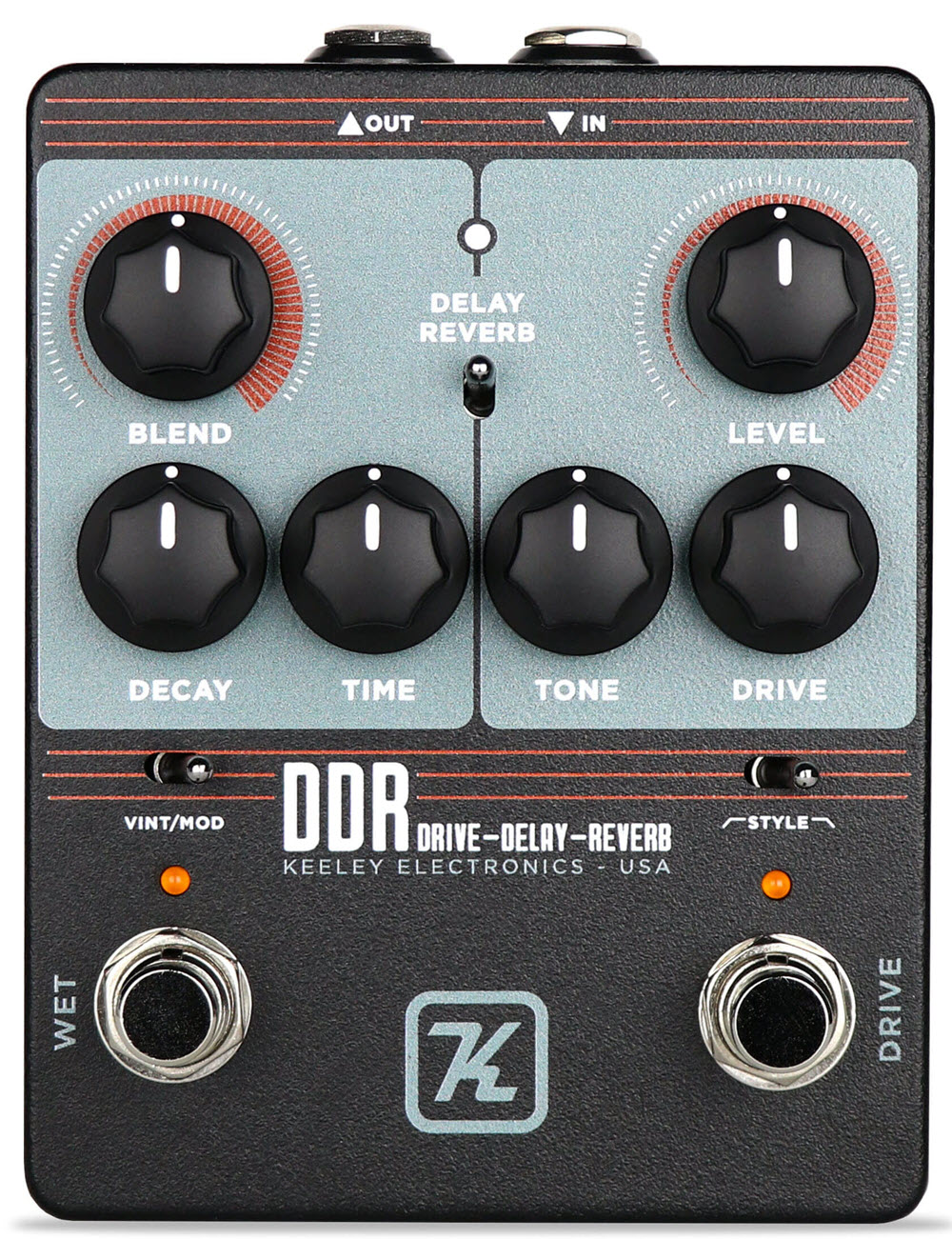Keeley DDR Drive Delay Reverb Pedal (Black)