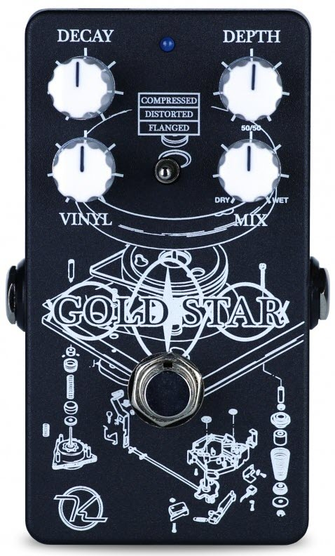 Keeley Gold Star Reverb Pedal (Black/White)