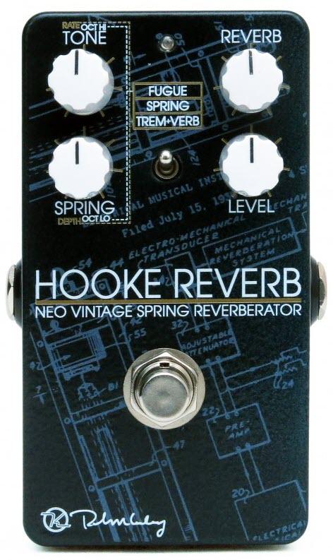 Keeley Hooke Reverb Neo Vintage Spring Reverberator Reverb Pedal (Black/Blue)