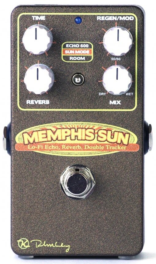Keeley Memphis Sun Lo-Fi Reverb Echo Double Tracker Reverb Pedal (Black/Yellow)