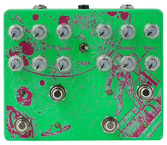 Matthews Astronomer/Cosmonaut Dual Reverb Guitar Pedal (Green)