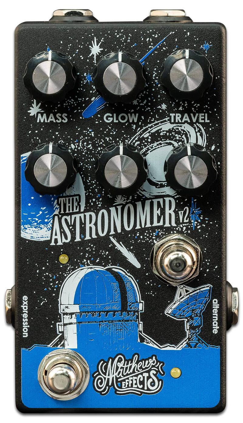 Matthews Astronomer V2 Celestial Reverb Pedal (Black/Blue)