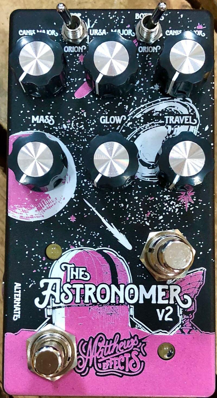 Matthews Astronomer V2 Celestial Reverb Pedal (Black/Pink)