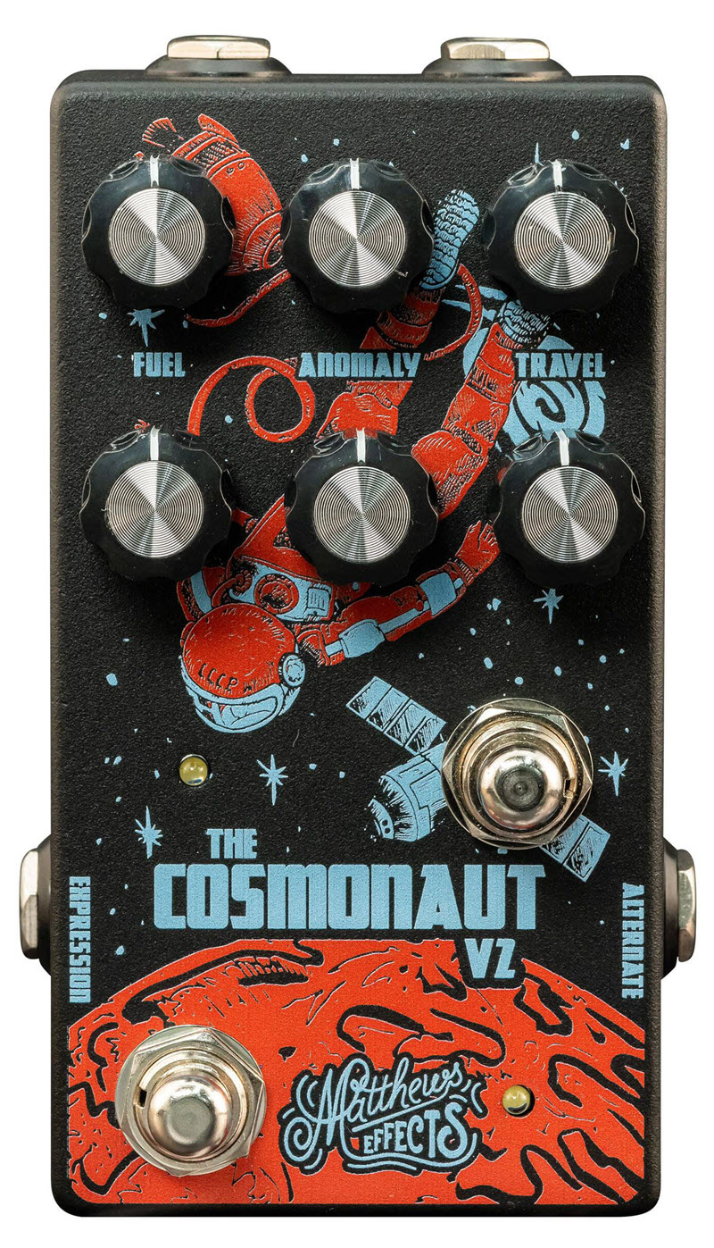 Matthews Cosmonaut V2 Void Delay Reverb Pedal (Black/Orange/Blue)