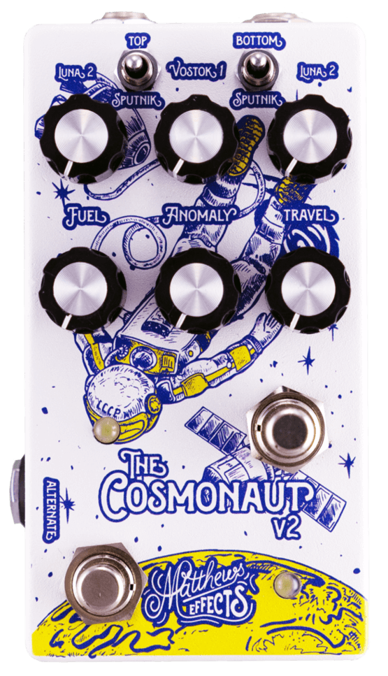 Matthews Cosmonaut V2 Void Delay Reverb Pedal (White/Blue/Yellow)