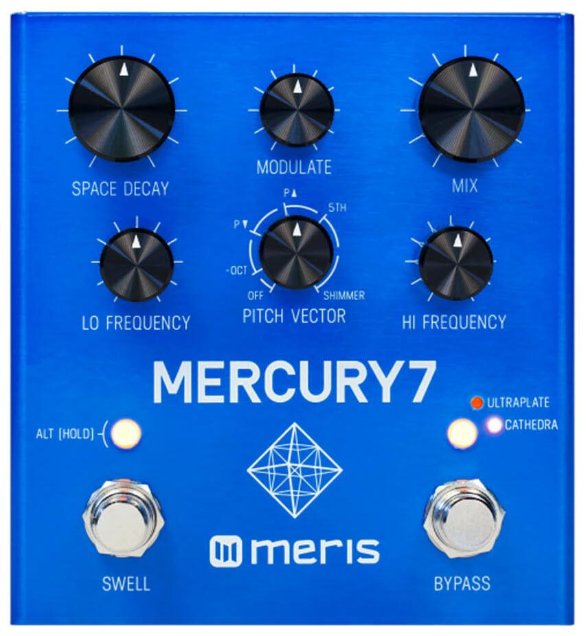 Meris Mercury7 Reverb Pedal (Blue)
