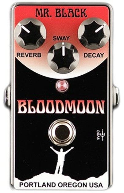 Mr. Black Bloodmoon Reverb Pedal (Black/Red)