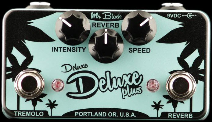 Mr. Black Deluxe Deluxe Plus Reverb Tremolo Reverb Pedal (Surf Green)