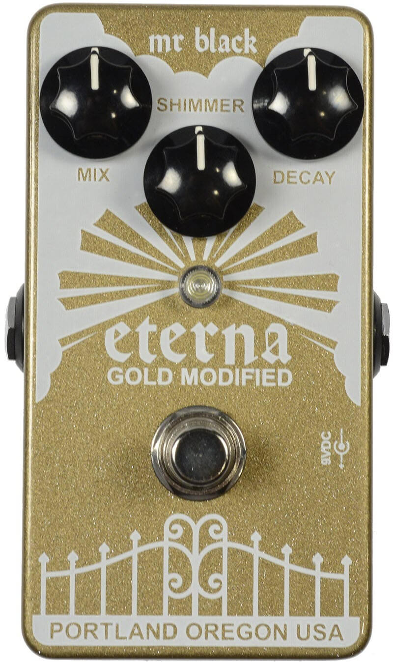 Mr. Black Eterna Reverb Pedal (Gold)