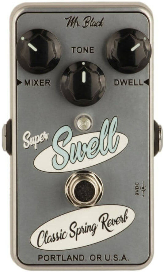 Mr. Black Super Swell Classic Spring Reverb Pedal (Chrome/Gray)