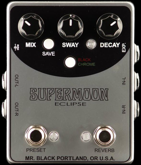 Mr. Black Supermoon Eclipse Reverb Pedal (Silver)