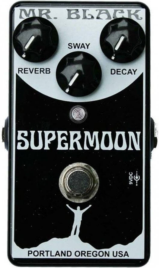 Mr. Black Supermoon Reverb Pedal (Black/White)