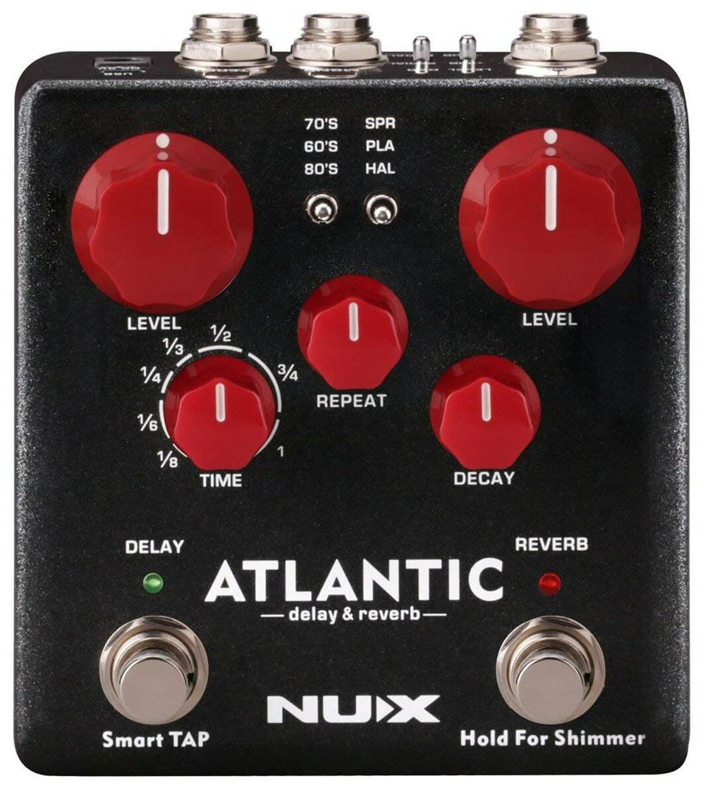 NUX Atlantic Delay Reverb Pedal (Black/White/Red)