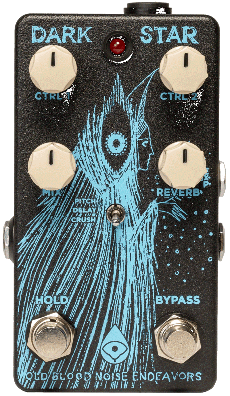 Old Blood Noise Endeavors Dark Star Pad Reverb Pedal (Black/Blue)
