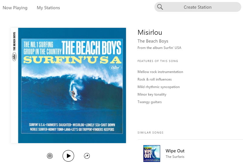 Pandora Radio - Misirlou - Beach Boys